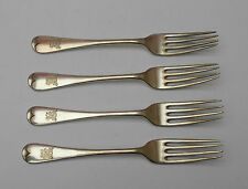 "VINTAGE~ CUTLERY ~ SET OF 4  FORKS ~ WS ~ AA ~ SILVER PLATED ~ 7"" ~"