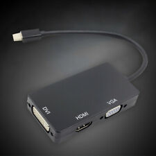 Mini Display Port DP to VGA HDMI DVI Adapter Converter Cable For Macbook Pro