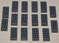 LEGO LOT OF 16 NEW 1 X 2 DARK BLUISH GREY REMOTE CONTROL TILE PIECES