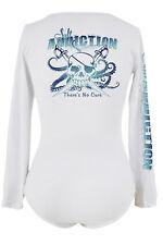 Salt Addiction Women's long sleeve V neck microfiber fish Ocean Pirate t shirt