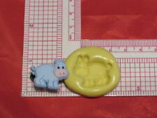 Baby Hippo Silicone Push Mold A46 For Fondant Resin Clay Cake Pop Chocolate