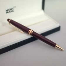 Penna Montblanc Meisterstuck Classique Burgundy a Sfera Bordeaux Gold Coated