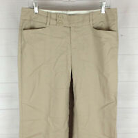 Banana Republic Jackson Fit womens size 8S stretch beige wide cuffed dress pants
