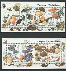 Romania 1994 Mushrooms 2 MNH Blocks