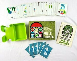 Vintage Parker Brothers MILLE BORNES French Card Game Complete 1962 Excellent