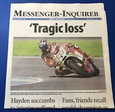 5/23/2017 Nicky Hayden Hometown Newspaper Complete Owensboro Kentucky Kid MotoGP