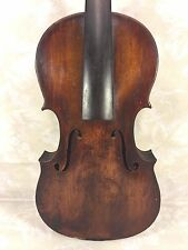 Ant German Violin W & S w/ Lyre Label Leipzig Germany 2 Piece Belly 1 Piece Back