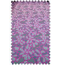 De Lujo Tejido Flor Floral Rosa Gris Patrón Cortina Manualidades Tapicería Tipo