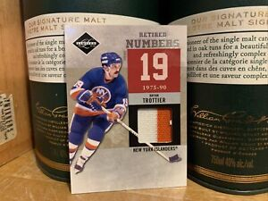 11/12 PANINI LIMITED BRYAN TROTTIER RETIRED NUMBERS JERSEY #'D /25 + 19 CARDS