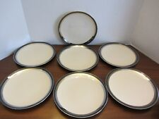 "7 - Black Contessa LUNCH SANDWICH PLATE by Gorham EUC  8.5"" PLATES"