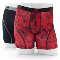 Men adidas Climalite Draven Print Performance Boxer Brief (2- Pack) Underwear RB