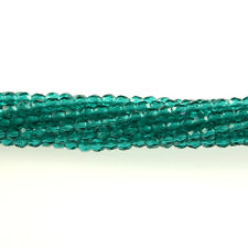 Teal Green - 50 3mm Faceted Round Fire Polish Czech Glass Beads