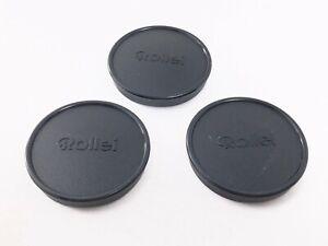 < Set of 3 > Rollei 51mm Slip-On Front Lens Cap For 49mm front lenses Japan 2752