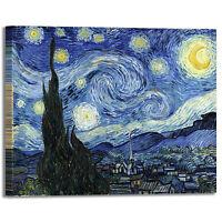 Van Gogh notte stellata design quadro stampa tela dipinto telaio arredo casa