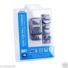 Laser 4 Port USB World Travel Charger for Australia NZ USA and Europe PW4TRAVEL