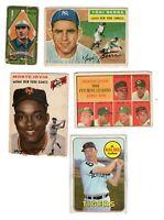 1911 T205 James Scott Topps 5 Card Lot Old Baseball cards Yogi Berra Al Kaline