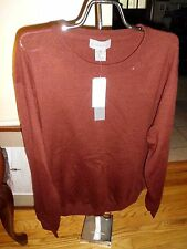 Men's For The Republic Burgundy Sweater Merino Wool Size XXL NWT