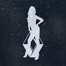 Sexy Girl Logo Car Laptop Vinyl Decal Sticker RENAULT CLIO TWINGO MEGANE LAGUNA
