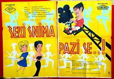 SHEKI SNIMA,PAZI SE! SEKULARAC 1962 SOCCER RED STAR EXYU POSTER CRVENA ZVEZDA