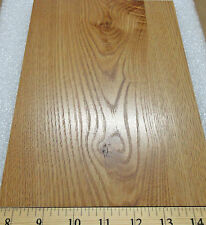 "Oak melamine woodgrain print panel on 1/8"" x 7"" x 9"" hardboard with no backer"