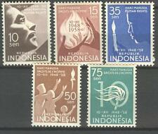 INDONESIA 1958 ZBL 231-35 HUMAN RIGHTS  MNH