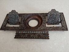 Antique Art Deco Bronze Inkwell Stand