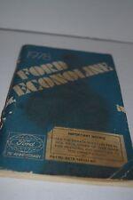 Vintage 1976 Ford Econoline Operator's Manual