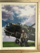 """Lancaster bomber  guy Gibson """"one man and his dog""""Limited edition print"""