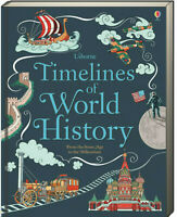 Usborne Timelines of World History by Jane Chisholm (Hardcover) FREE ship $35