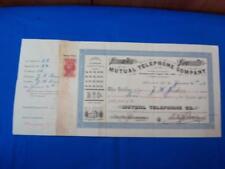 1996, Hawaii: Mutual Telephone Co. Stock Cert., See Remark (27675)