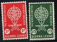 Sierra Leone 1962 SG#240-1 Malaria Eradication MNH Set #D36589