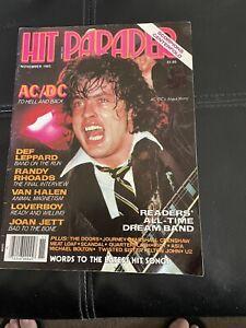 Hit Parader Magazine Nov1983 AcC/DC, Kiss, Def Leppard