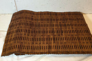 Set of 4 Heavy Wood Placemats, Medium Wood Color