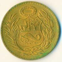 COIN / PERU / 1/2 SOL 1956 BU     #WT6788