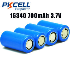 Flat Top 4 x CR123A Lithium Rechargeable Battery ICR16340 700mAH 3.7v