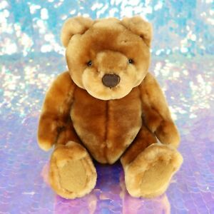 "Velvety Soft Brown Teddy Bear Plush Stuffed Animal 9"" Velvets By Greek BG048"