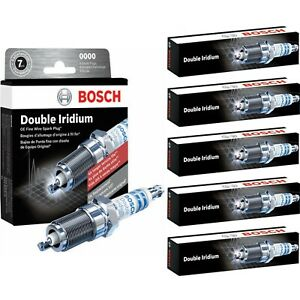 5 Bosch Double Iridium Spark Plugs For 2009-2010 HUMMER H3T L5-3.7L