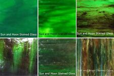 Wissmach Glass Stained Glass Sheet Pack (DEEP FOREST GREEN) - 6 Sheets of 8X10