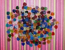 LOOSE PRESSED GLASS INDIA BEADS-LOOPED LEAVES-MIXED COLORS-25 BEADS-FREE GIFT