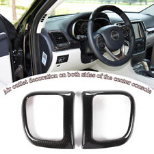 Carbon Fiber Inner Side Air Vent Outlet Cover Trim Fit Jeep Grand Cherokee 2011+