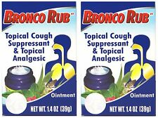 2 UNITS BRONCOLIN COUGH SUPRESSANT RUB - PARA LA TOZ 1.4 OZ