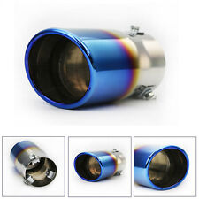 Universal Stainless Steel Neo Chrome Car SUV Round Exhaust Pipe Tail Muffler Tip