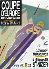 Original vintage poster SKI JUMP EC ST.NIZIER FRANCE 1989