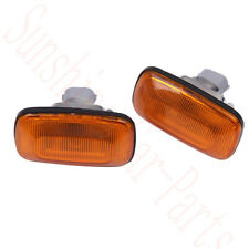 2x For Toyota Land Cruiser LC100 1998-2007 Car Left+Right Leaf Lamp Cover Yellow
