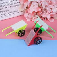 3Pcs 1:12 Dollhouse Miniature Hand Trolley Garden Model Doll House Decor  JR