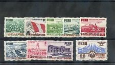PERU Sc C94-102(MI 483-91)**F-VF NH 1951 UPU AIR POST SET $90