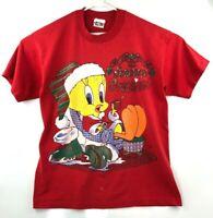 VTG 1995 Tweety Bird XL T-shirt Single Stitch FREEZE Warner Bros Looney Tunes