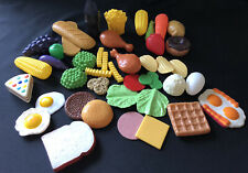 PLASTIC PRETEND PLAY FOOD Mixed Lot 42 pieces