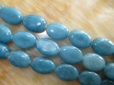 "13x18mm Natural Brazilian Blue Aquamarine Oval Gemstone Loose Beads 15""##HK2091"