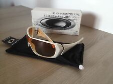Oakley Woman Riddle Polished White Brown Clear Rare Collector